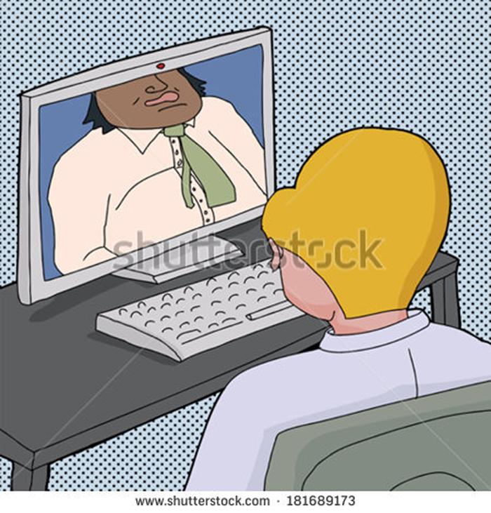 stock-vector-cartoon-of-two-business-men-talking-online-with-computer-181689173