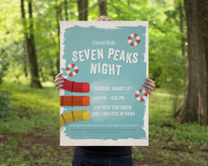 CLEARLINK's Seven Peaks Poster
